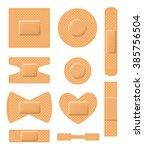 set of medical plasters.... | Shutterstock . vector #385756504