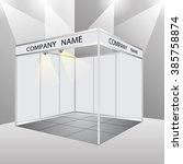 empty booth exhibition. vector...   Shutterstock .eps vector #385758874