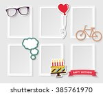 realistic design photo frames... | Shutterstock .eps vector #385761970