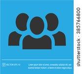 teamwork vector icon eps 10.... | Shutterstock .eps vector #385766800