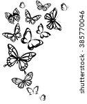 Stock vector butterflies design 385770046
