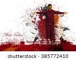 easy to edit vector... | Shutterstock .eps vector #385772410