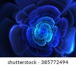 fractal flower for logo  design ...   Shutterstock . vector #385772494