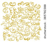 gold hand drawn vintage swirls. ... | Shutterstock . vector #385782388
