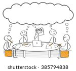 group of stick figures... | Shutterstock .eps vector #385794838