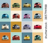 car icons. flat style car icons ... | Shutterstock .eps vector #385794988