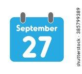 Calendar Icon Flat September 27