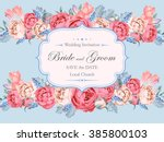 vintage wedding invitation | Shutterstock .eps vector #385800103