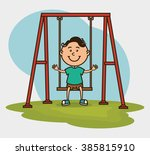 happy kids design  | Shutterstock .eps vector #385815910