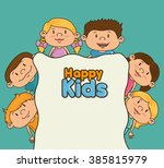 happy kids design  | Shutterstock .eps vector #385815979