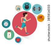 fitness lifestyle  design    Shutterstock .eps vector #385816033