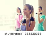 fitness  sport  training and... | Shutterstock . vector #385820398