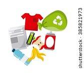 waste concept design    Shutterstock .eps vector #385821973