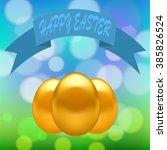 Vector Gold Easter Eggs