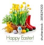 easter still life from egg and... | Shutterstock . vector #385829320