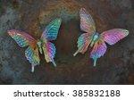 Plastic Iridescent Butterflies...