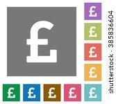 pound sign flat icon set on...