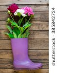 Purple Rubber Boots With Peon...
