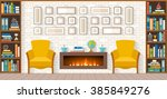 living room with furniture ...   Shutterstock .eps vector #385849276