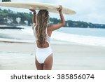 Beautiful Girl On A Surf Board...