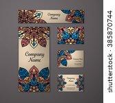 templates set. business cards ... | Shutterstock .eps vector #385870744