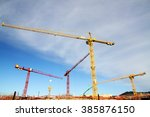 Construction Site With Cranes...
