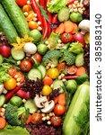 fresh vegetables | Shutterstock . vector #385883140