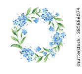 floral forget me not flower... | Shutterstock . vector #385886074