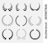 set of laurel wreath  heraldic... | Shutterstock .eps vector #385887868