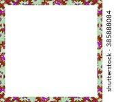 white square frame background... | Shutterstock . vector #385888084