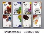 set of brochure  poster design...   Shutterstock . vector #385893409