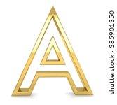 3d Golden Frame Letter A...