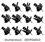 microphone icons set on white... | Shutterstock .eps vector #385906810