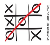 Hand Drawn Tic Tac Toe Vector...