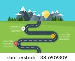 road with markers  vector... | Shutterstock .eps vector #385909309