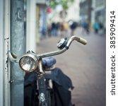 bike in the city | Shutterstock . vector #385909414