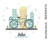 bike lifestyle design  | Shutterstock .eps vector #385909474