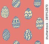 easter holiday background ... | Shutterstock .eps vector #385912870