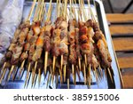 the roast mutton string... | Shutterstock . vector #385915006