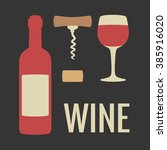 Wine Icon Vector. Wine Icon...