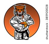 fighter tiger | Shutterstock .eps vector #385920028