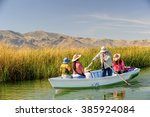 puno  peru   nov 7  2010 ... | Shutterstock . vector #385924084