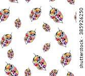 leaves pattern | Shutterstock .eps vector #385926250
