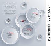 vector abstract 3d paper... | Shutterstock .eps vector #385933339