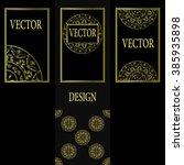 vector set of design elements ... | Shutterstock .eps vector #385935898