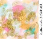 pink gold and teal modern...   Shutterstock . vector #385938484