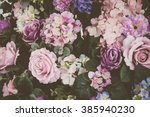 Stock photo beautiful bouquet flower for background vintage filter 385940230