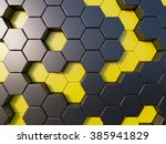 Abstract Metal Bee Hive...