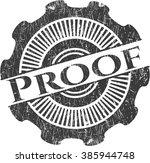 proof rubber grunge stamp   Shutterstock .eps vector #385944748
