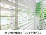 selective focus point on blinds ... | Shutterstock . vector #385945498